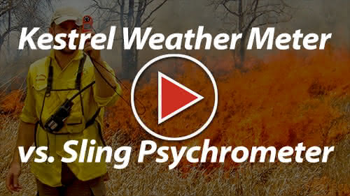 Kestrel Fire Weather Meter vs. Sling Psychrometer